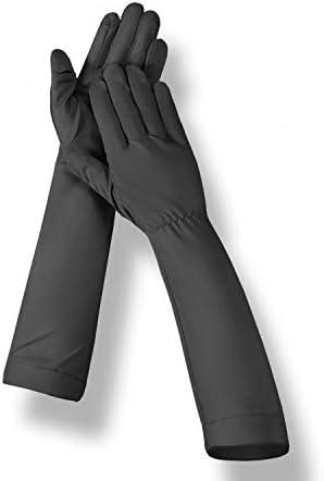 BAJIMI UVカット手袋 手触りが良い ファッション日焼け止め手袋紫外線保護UPF50 +通気性保護アウトドアスポーツ手袋 夏 ハンド ケア レディース/メンズ (Color : Gray, Size : L)