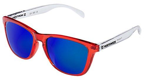 NORTHWEEK Rouge IT de lens Lunettes vif Polarisé brillant bleu CUSTOMIZE blanc soleil 17Br1Aq