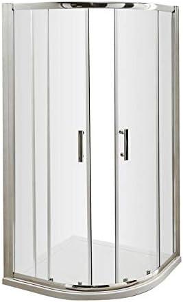 Ducha de 900 x 900 Walk In Cuadrante Enclosure Cubículo de puertas correderas (qf99e): Amazon.es: Hogar