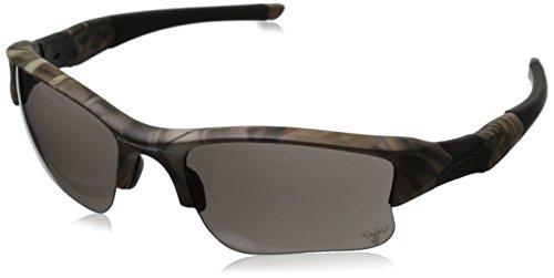 Oakley Men's Flak Jacket XLJ OO9009-14 Rectangular Sunglasses, Woodland Camouflage, 63 mm