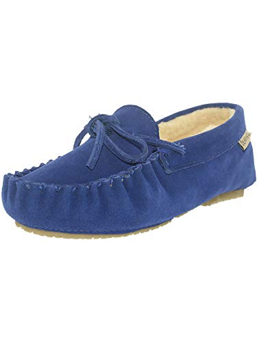 Bearpaw Women's Ashlynn Cobalt Blue Ankle-High Suede Slipper - 10M ()