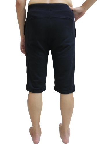 Men Yoga Shorts, Black - Size XL