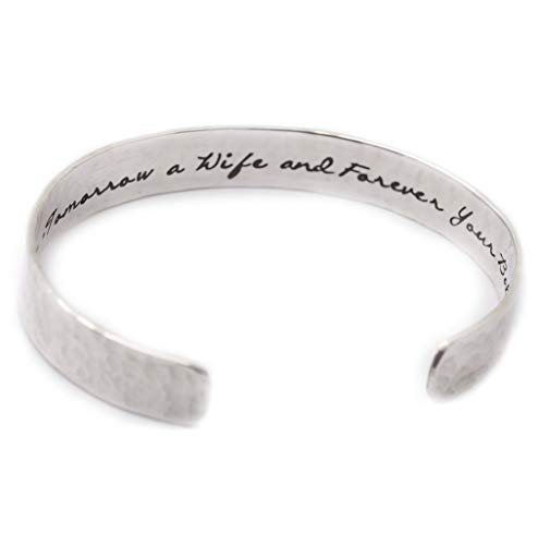 Personalized Sterling Silver Cuff Bracelet - Custom Finish - Hidden Message - Gifts for Women