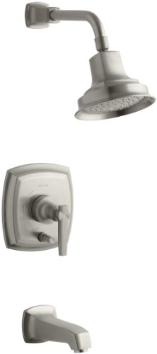 (KOHLER T16233-4-BN Margaux Rite-Temp Bath and Shower Faucet Trim with Lever Handle, Vibrant Brushed Nickel)