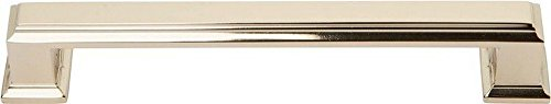 Atlas Homewares 292-FG Sutton Place Collection 128 Center Handle Large Pull, French Gold Finish