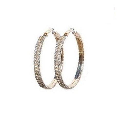 Crystal Large Hoop Earrings in Swarovski Elements, Gift-Boxed (Elements Boxed)