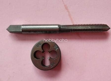 FidgetKute 1pc HSS Machine 1//4-24 UNS Plug Tap and 1pc 1//4-24 UNS Die Threading Tool Show One Size
