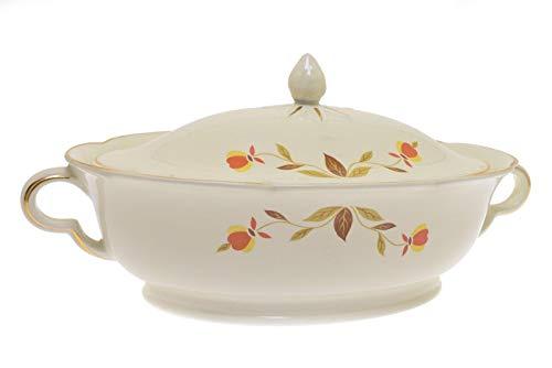- Halls Autumn Leaf Oval Covered Vegetable Bowl w/Handles