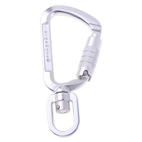 DYNWAVE Portable D-Shaped Carabiner Keyring, Quick Release Hooks Snap Clip- Outdoor Equipment Used as Climbing & Caving & Camping Hardware