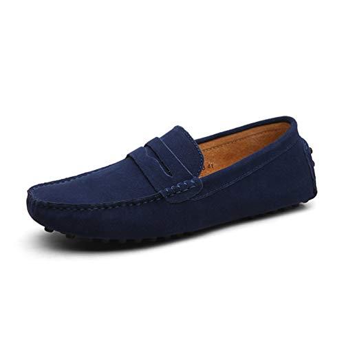 De Ocio Mercado Sin Bajo Pie Cuero Zapato Zapatos Azul Plano Lona Para Ribete Perezoso Ciudad Encaje Los Oscuro La Hombres pvOAAdnCwq