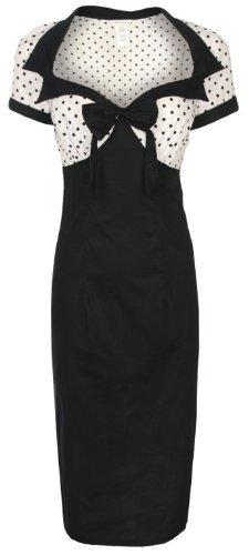 Lindy Bop 'Laney' Chic Vintage 50's Style Black Bengaline Pencil Wiggle Dress (XL)