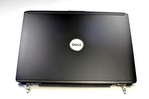 (NEW Genuine OEM Dell Inspiron 1420 1421 Vostro 1400 Laptop Notebook 14.1 Inch JET BLACK LCD Rear Back Cover 13GNJS1AM010-1DE 20080817 Top Monitor Panel Case Lid W/Hinges/Antenna Wire Assembly)