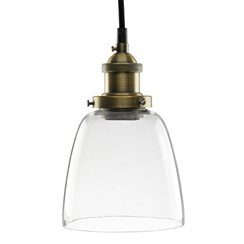 Sunlite AQF/PD/CN/CB/CAC Clear Acrylic Copper Bronze Antique Style Pendant Fixture with Medium Base by Sunlite