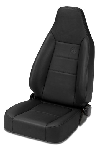 (Bestop 39434-15 TrailMax II Sport Black Denim Front High Back All-Vinyl Single Jeep Seat for 1976-2006 Jeep CJ and Wrangler)