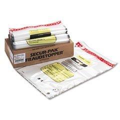 SteelMaster. 16 Bundle Capacity Tamper-Evident Cash Bags, 20 x 28, Clear, 100 Bags/Box (2362035N20) by STEELMASTER