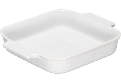 Le Creuset Stoneware 1-1/2-Quart 9-Inch Square Baking Dish, White by Le Creuset