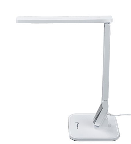 LED Table Desk Lamp Fugetek FT-768, 5-Levels of Brightness, Touch Control Panel, 550 Lumen, 1-Hour Auto Timer (Black)