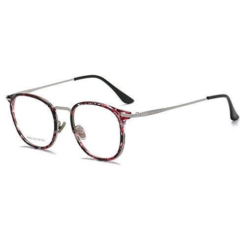 Reemplazo Unisex Flores SOJOS Claro Metal Gafas SJ5013 de C4 Redondas Rosa Lentes Marco q0T0Rgwt