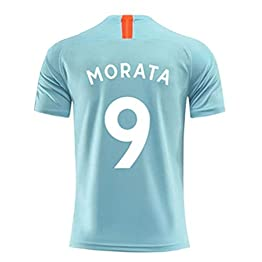 Alvaro Morata # 9 Football Wear - Sweat for Enfants Demi-Manche Respirante et à séchage Rapide (Color : Green, Size : XXXXS)