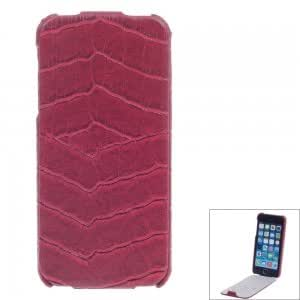 SAYOO 2224 Crocodile Striation Vertical Open Protective PU Leather Back Case for iPhone 5/5S Red