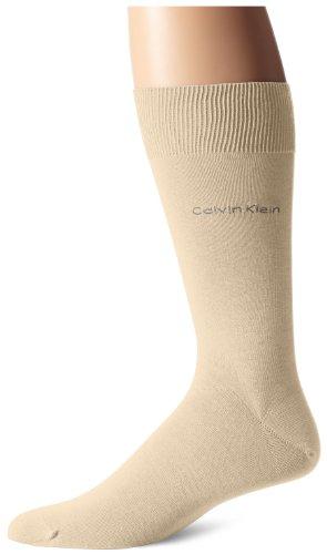 Calvin Klein Men's Egyptian Cotton Dress Socks, Limestone, Sock Size:10-13/Shoe Size: 6-12 (Calvin Klein Knit Socks)