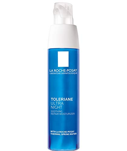 La Roche-Posay Toleriane Ultra Night Cream for Face Intense Soothing Moisturizer, Allergy Tested, 1.35 Fl oz.