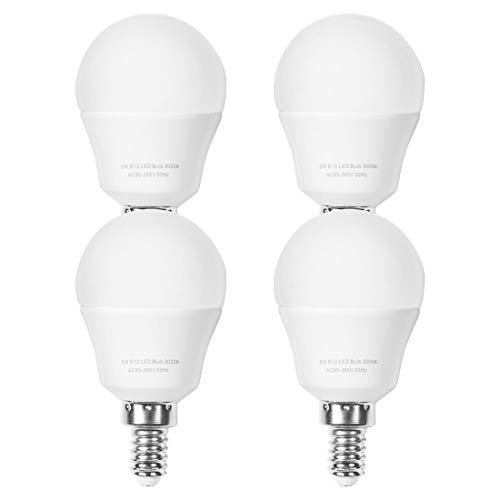 E12 LED Bulb, AMAZING POWER 40W Equivalent Candelabra Base Bulb, Warm White 3000K, 4-Pack