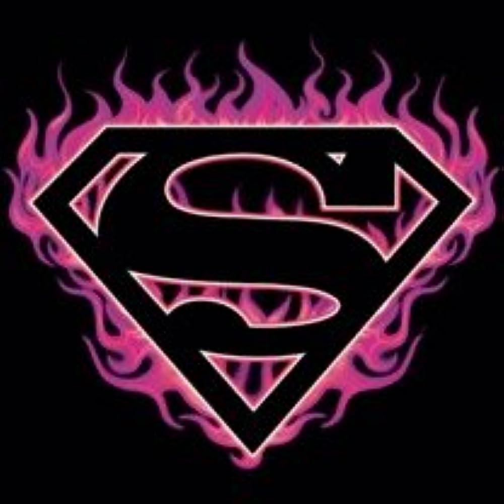 Superman DC Comics Fuchsia Flames Juniors Sheer T-Shirt Tee