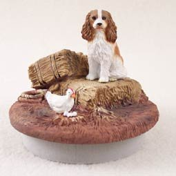 Miniature Cavalier King Charles Spaniel (Conversation Concepts Miniature Cavalier King Charles Spaniel Brown & White Candle Topper Tiny One