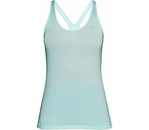 Under Armour Women's HeatGear Armour Racer Tank Top, Refresh Mint /Metallic Silver, Small by Under Armour (Image #1)