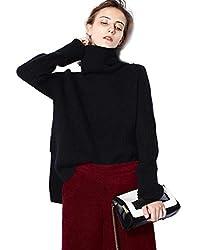 Turtleneck Sweater Women Black Oversized Long Sleeve Ribbed Elbow Cardigan Plus Size Fall 2019 S Black