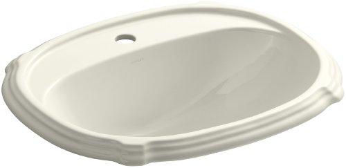 KOHLER K-2189-1-96 Portrait Self-Rimming Bathroom Sink, Biscuit Kohler Portrait Biscuit