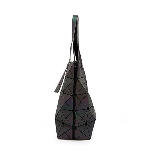Shoulder Folding New Myll Geometric Ling Bag Handbag Bag Diamond shaped Grid Women dIqqfwY