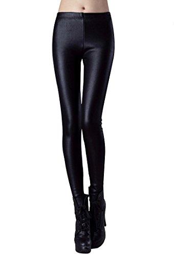 7b78e74b27d52 Swtddy Women's Winter Faux Leather Warm Thick Velvet Slim Leggings Pants