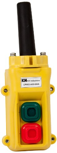 Hoist Pendant Control (KH Industries CPH02-B00-000A 2 Push Buttons Pendant Control Switch, Maintained On/Off)