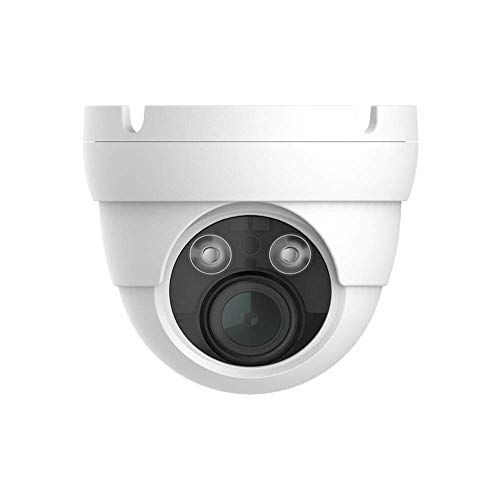 - HDView 5MP Megapixel HD IP Network Camera H.265 4X Optical Zoom Motorized 2.8-12mm Lens PoE Outdoor Indoor Digital WDR Wide Dynamic Range 3-Axis Angle IR Infrared Dome ONVIF