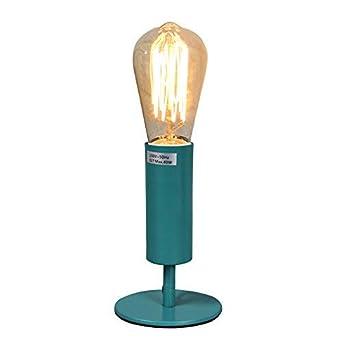 Metall Tischlampe fü r Nachttisch, Bü ro, Wohnheim und Wohnzimmer - 5 Farben erhä ltlich (dusty green) KAIYAO