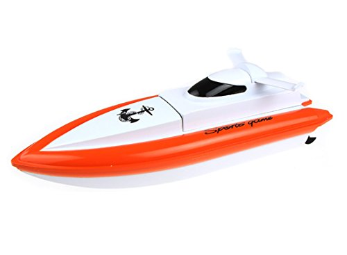 CSFLY-DeXop Rc Boat Only Works In Water With High Speed-Orange(The Motor And Paddle Only Work When Touching The Water,No Responds On The Land) ()