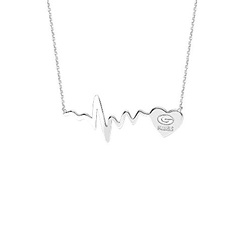 NFL GREEN BAY PACKERS Heartbeat Heart Necklace