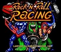 Value-Smart-Toys - ROCK N' ROLL RACING - 16 bit MD Games Cartridge For MegaDrive Genesis console