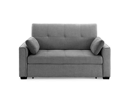Furniture of America Canby Contemporary Sectional with Sleeper Chaise, Ash Brown
