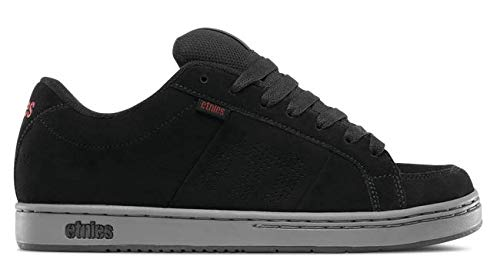 Etnies Mens Men's Kingpin Skate Shoe, Black/Charcoal/Red, 10 Medium US