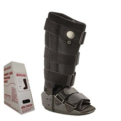 OTC Short Leg Adjustable Air Cast High Top Walker Boot, Black, Medium/Tall by OTC