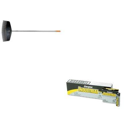 Industrial Rakes - KITEVEEN91FSK96605935J - Value Kit - Fiskars Leaf Rake (FSK96605935J) and Energizer Industrial Alkaline Batteries (EVEEN91)