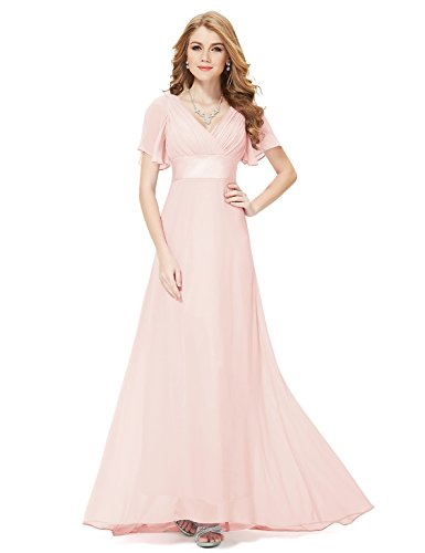 HE09890PK16, Pink, 14US, Ever Pretty Petite Dresses Special Occasion 09890