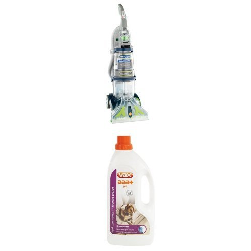 Vax V-125A All Terrain Upright Carpet Washer and aaa+ Pet Carpet Solution Bundle