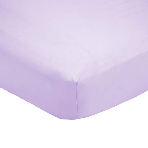 Organic Cotton Bed Sheet Set. Soft and Luxurious. (Crib, Lilac) ()