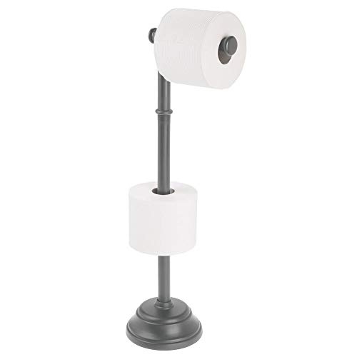 mDesign Modern Plastic Toilet Paper Roll Holder Stand for sale  Delivered anywhere in USA