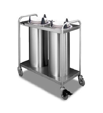 Mobile Lowerator Dispensers Two Tubes - APW Wyott Lowerator Trendline Mobile Two Tubes Unheated Dish Dispenser, Up to 5 inch China Size -- 1 each.
