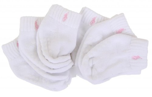- Polo Baby Socks for Boys and Girls with Gripper Bottoms (6 Pairs) White/ Pink Pony, 2T - 4T